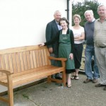 New Jubilee bench at Lophams Village Hall.