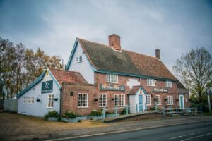 The White Horse Public House in South Lopham